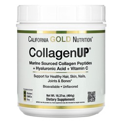 California Gold Nutrition, CollagenUP, Marine Hydrolyzed Collagen + Hyaluronic Acid + Vitamin C, Unflavored,464 г