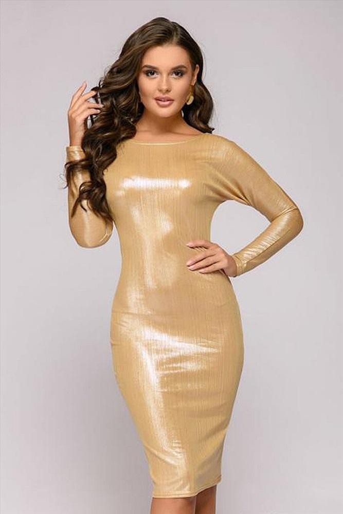 Платье Золотистого Цвета Купить